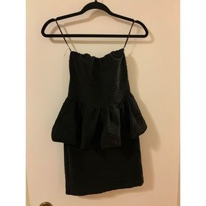 Short black peplum dress from ASOS